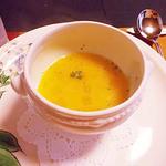 旬洋膳 椿 - ランチの野菜スープ