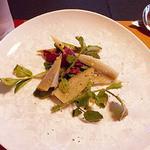 旬洋膳 椿 - ランチのサラダごぼうとクレソン