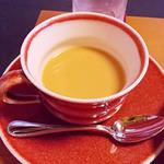 旬洋膳 椿 - ランチの紅茶ミルクで
