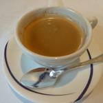 箱根ハイランドホテル ラ・フォーレ - ランチの締めのコーヒー(朝食とは味が違います)