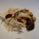 箱根ハイランドホテル ラ・フォーレ - 帆立貝のグリエと茸の饗宴。