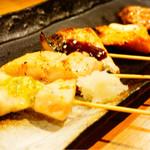 魚串さくらさく - 魚串炭火焼盛り6本(980円)