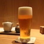 手打そば 風來蕎 - 生ビール