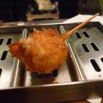 串かつ料理 活 - ☆子切り茄子の肉詰め☆