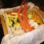 北の味紀行と地酒 北海道 - ポロト豚ベーコンと海鮮、野菜セイロ蒸し❤