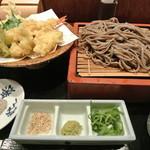 麺酒房 文楽 - 秋の天ざる 1030円 2014.11