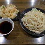 麦屋 - もりうどん(大550円)、かきあげ(110円)、これでお腹一杯、計660円はとても良心的ですね!