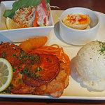 クオーコ タカハシ - 上富良野豚ロースのバジル&トマトソテー