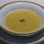 ステーキハウス 牛車 - コーンスープ
