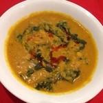 ◆ひよこ豆とほうれん草カレー Beans and spinech curry