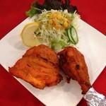 ◆タンドリ―チキン(2P・サラダ付)  Tandoori chiken