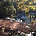 33073515 - 秋川の河原を見下ろすようなデッキ