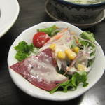 牛たん炭焼き 利久 - 牛タン入りサラダ