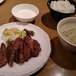 牛たん若 - 牛たん定食 980円(+とろろ120円)