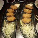 居肴家 一楽 - 牡蠣フライ 431円×2皿(2014.11.29)