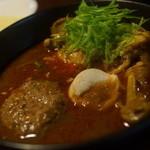 天竺 - 料理写真:北海道チキン+ラムハンバーグ