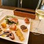 トラットリア ルチアーノ - 前菜には白ワイン呑むよねぇ(2014年11月)
