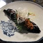 和処BAR輪 - 揚げなすの肉味噌はさみ