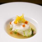 食酒 あきしろ by Mizuno - 金目鯛の蕪蒸し、和出汁と菊菜の薄葛仕立