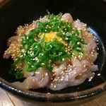焼鳥 一番星 - 料理写真:鶏ユッケ(^^)