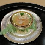 桜田 - 鱈の白子と海老のジュレがけ