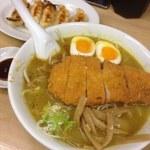 らーめん山田 - カレートンカツラーメン、餃子