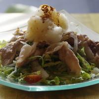 まんざら - 白菜と九条葱の豚しゃぶ雪見サラダ