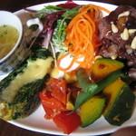 331708 - 若鶏の赤ワイン煮込み、前菜、サラダ、スープ