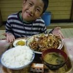 食事処 和 - 若鶏からあげ定食・ご飯大盛り