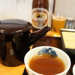 桃李庵 - そば湯は、やや濃い目(もう最後の方だったようです)、たっぷり2杯分