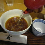 手打そば 玄 - 蕎麦湯は自然体(初回訪店時)