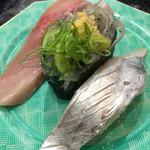沼津魚がし鮨 - 近海3種握り。