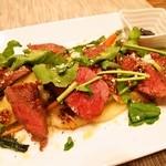 トラットリア・アルモ - 佐賀牛もも肉(40日熟成)のタリアータ(2014年11月)