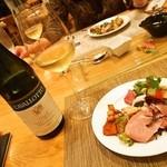 トラットリア・アルモ - ご主人に選んでもらった白ワイン(2014年11月)