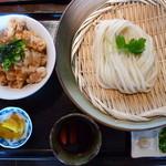釜揚げうどん 鈴庵 - ざる&とり天丼セット(H26.11.24)
