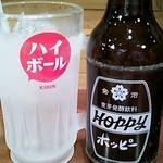 33112190 - キンキンのグラス ホッピー1杯目
