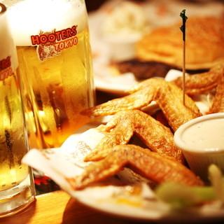 ビールやカクテルに合うアメリカンフード!