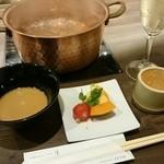 shabushabufuji - 前菜、食前酒、お酒はスパークリングを
