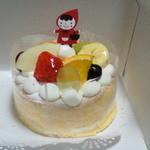 粉と卵と…魔法使い - 料理写真:米粉のフルーツシフォンケーキ ¥1296