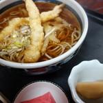 うどんや - 天ぷらそば(¥800税別)家庭料理という感じです。