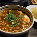 銀座スープカレー菜時記 - ビーンズにスイートコーントッピング 赤の5辛!