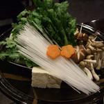 魚匠隆明 - カニすき2人前の野菜