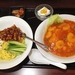蜀味三国 - じゃじゃ麺+海老チリソースごはん