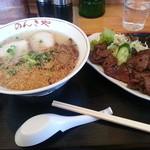 のんきや - 料理写真:ラーメン&キモテキ