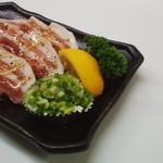 牛亭 - ネギ塩豚(670円)※大西海豚使用