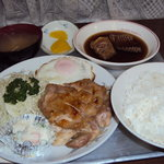 まるいち食堂 - お好み(カスベ とり焼き)