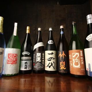 池袋屈指の日本酒の品揃え。限定酒・レア物多数。