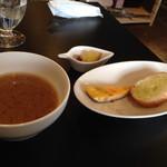 マルチズンズン - 前菜&味噌スープ~(^ー、^)ノ