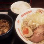 Aidukitakataramen - ネギつけ麺(ライス付)920円