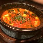 焼肉トラジ - 石鍋豆腐チゲ(¥1230)
